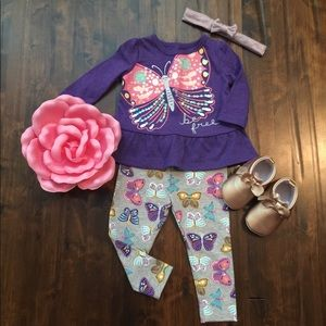 Carter's Baby Girl 2pc 💜🦋Butterfly🦋Set•3-6Mths